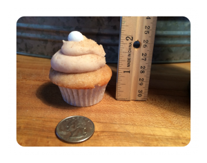 Mini Cupcake Size Framed